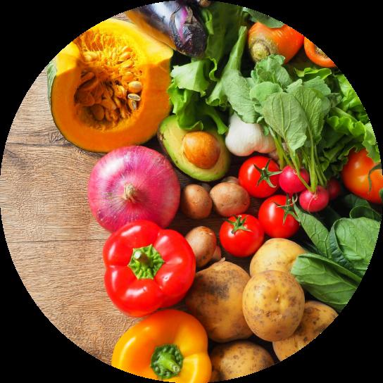 カレーに使う無農薬野菜